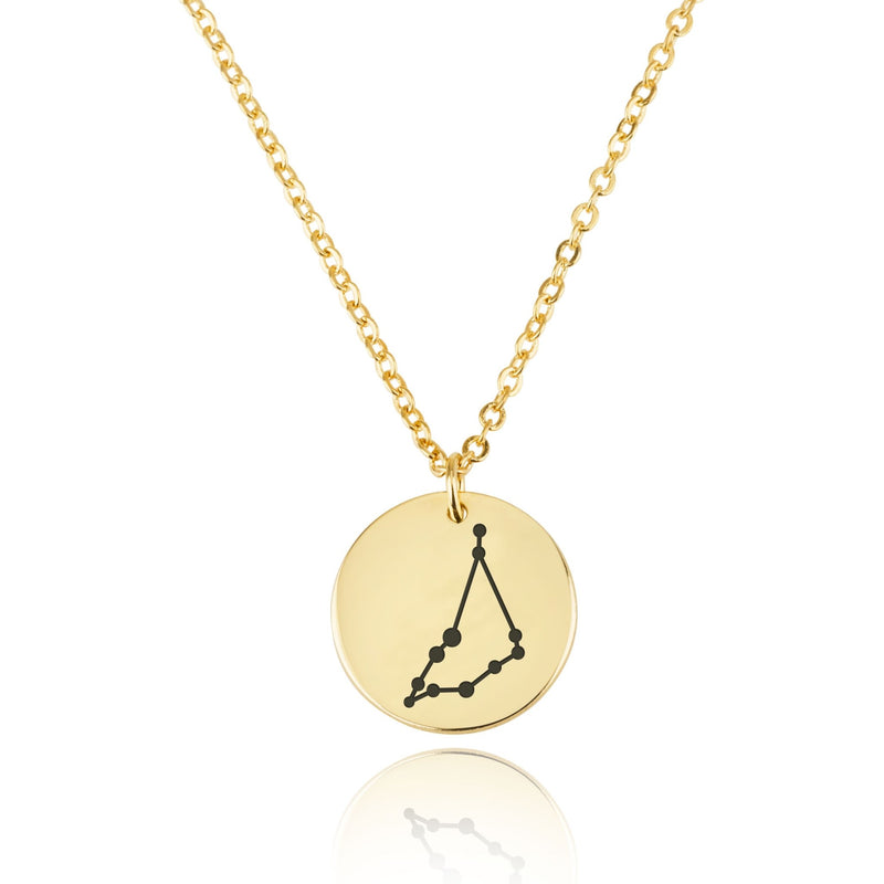Capricorn Celestial Constellation Disk Necklace - Beleco Jewelry