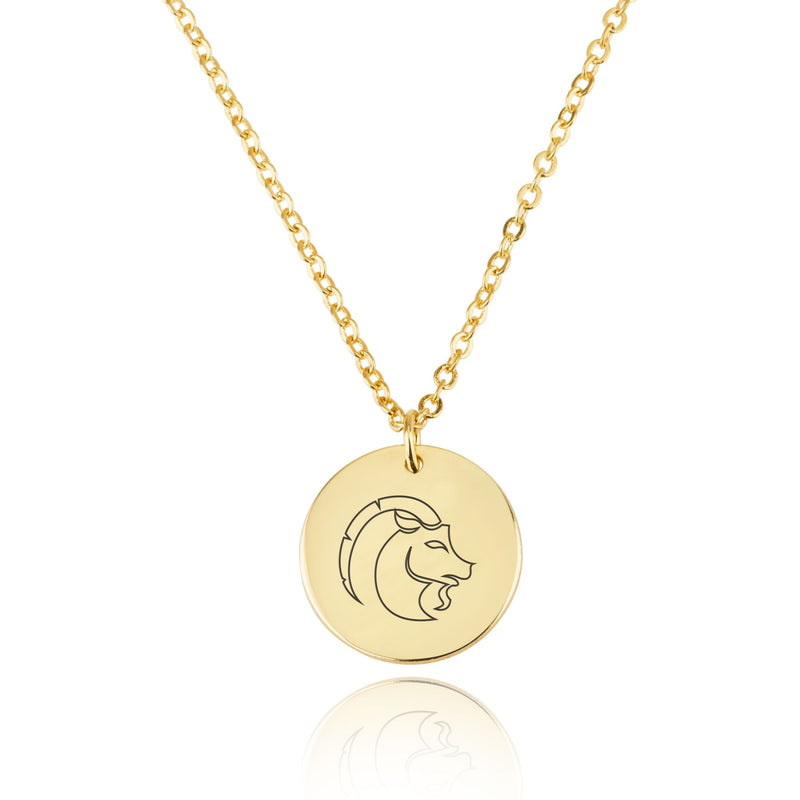 Capricorn Zodiac Disk Necklace - Beleco Jewelry