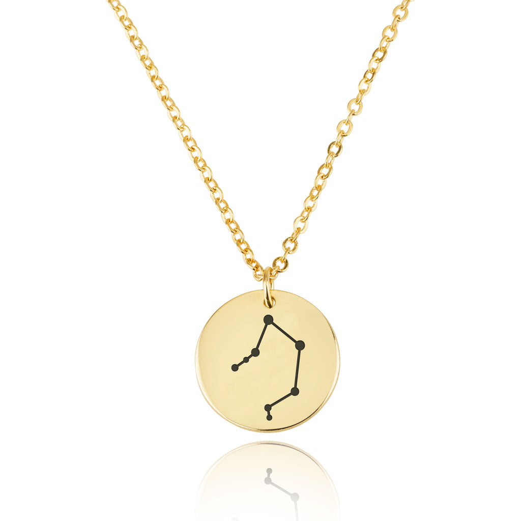 Libra Celestial Constellation Disk Necklace