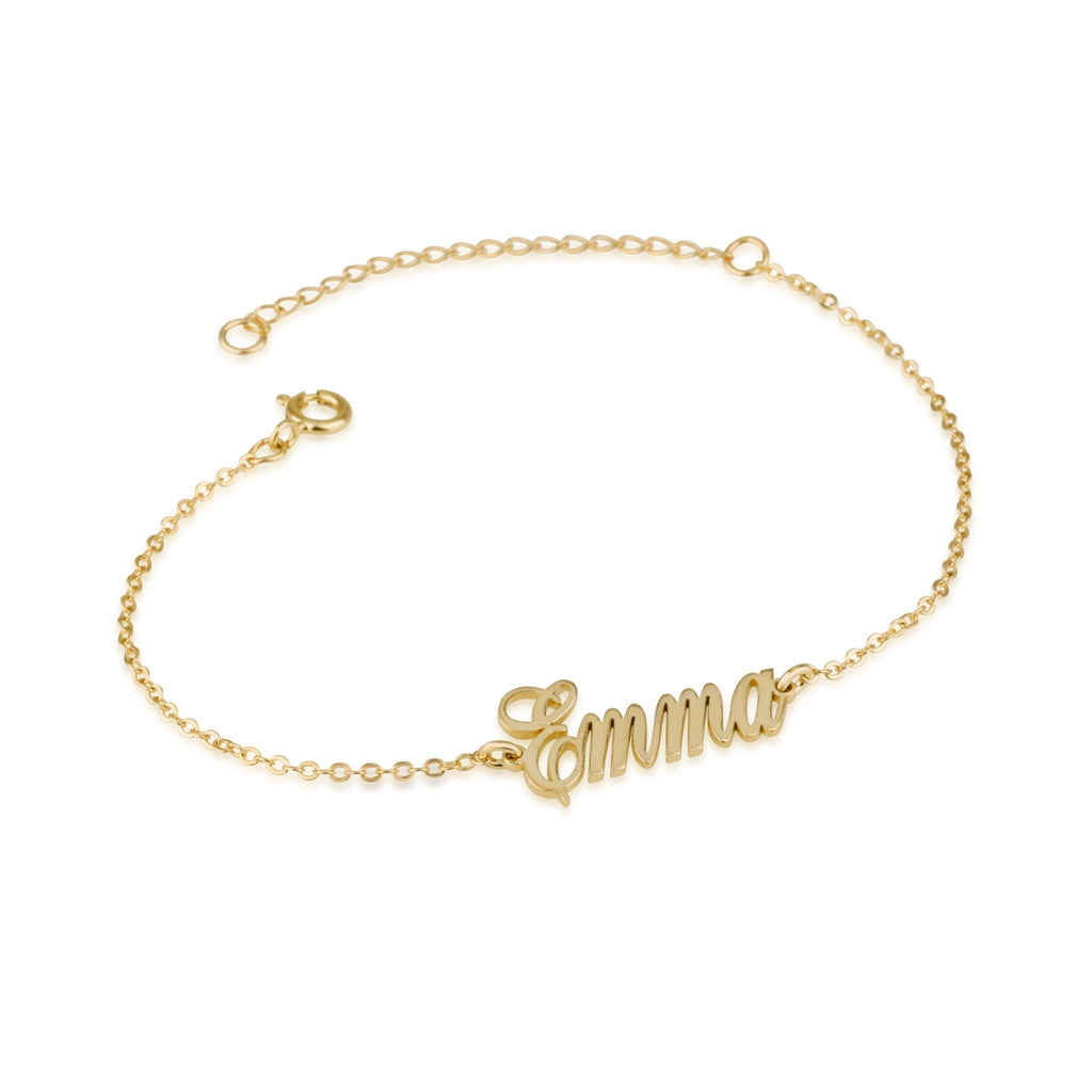 Custom Ankle Name Bracelet - Beleco Jewelry