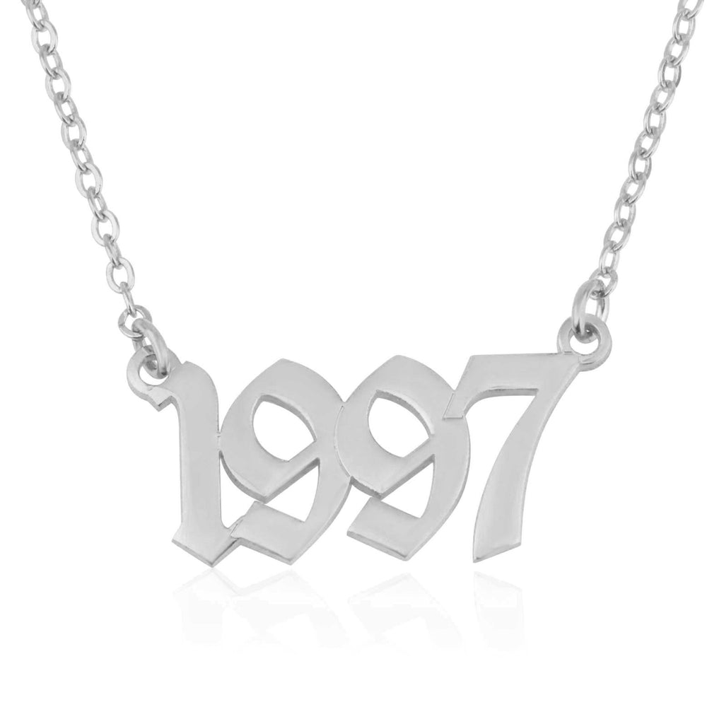 Custom Birth Year Necklace - Beleco Jewelry