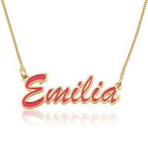 Custom Colorful Name Necklace - Beleco Jewelry