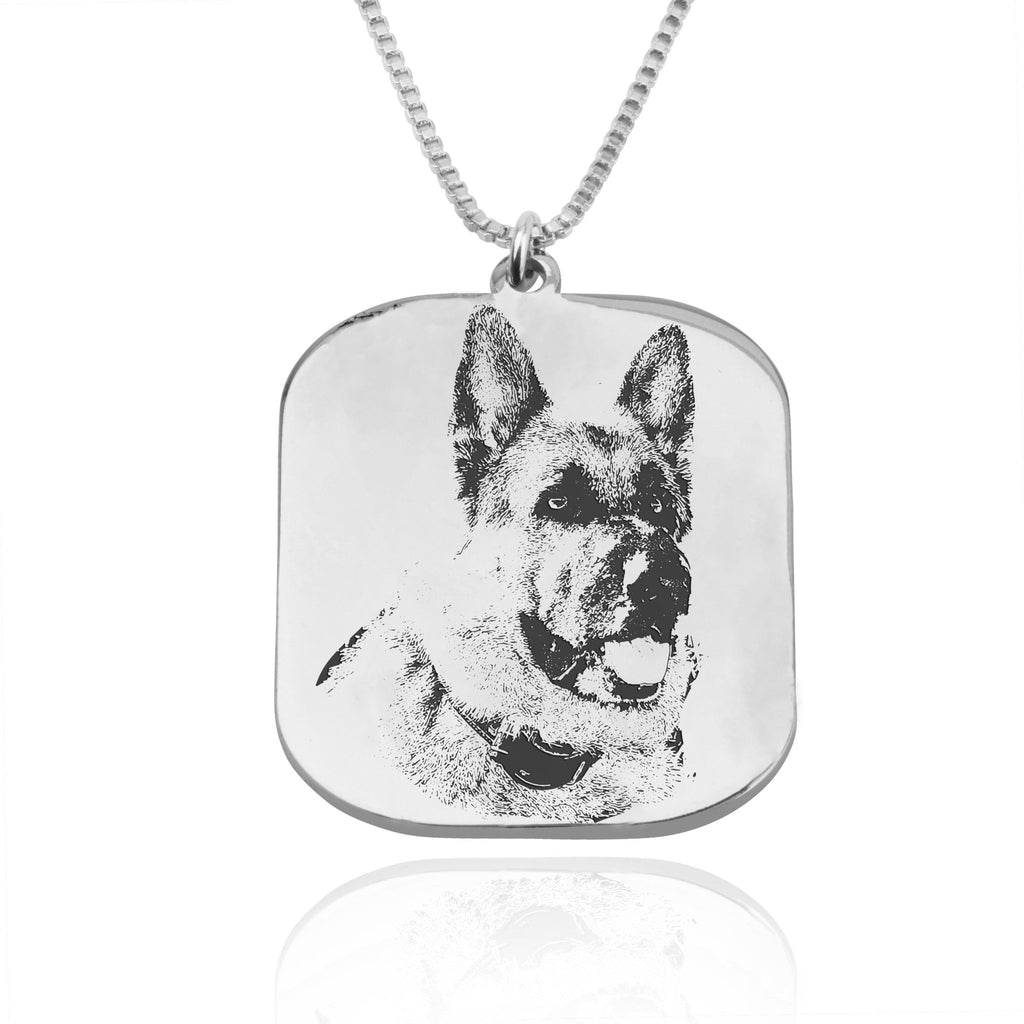 Custom Dog Portrait Necklace - Beleco Jewelry