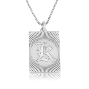 Custom Engraving Initial Necklace - Beleco Jewelry