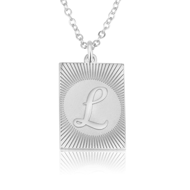 Custom Engraving Letter Necklace - Beleco Jewelry