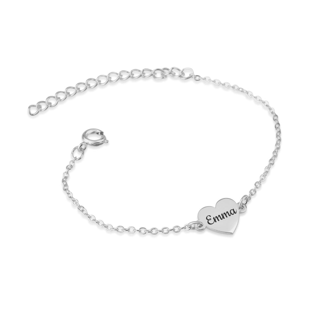 Custom Heart Name Bracelet - Beleco Jewelry