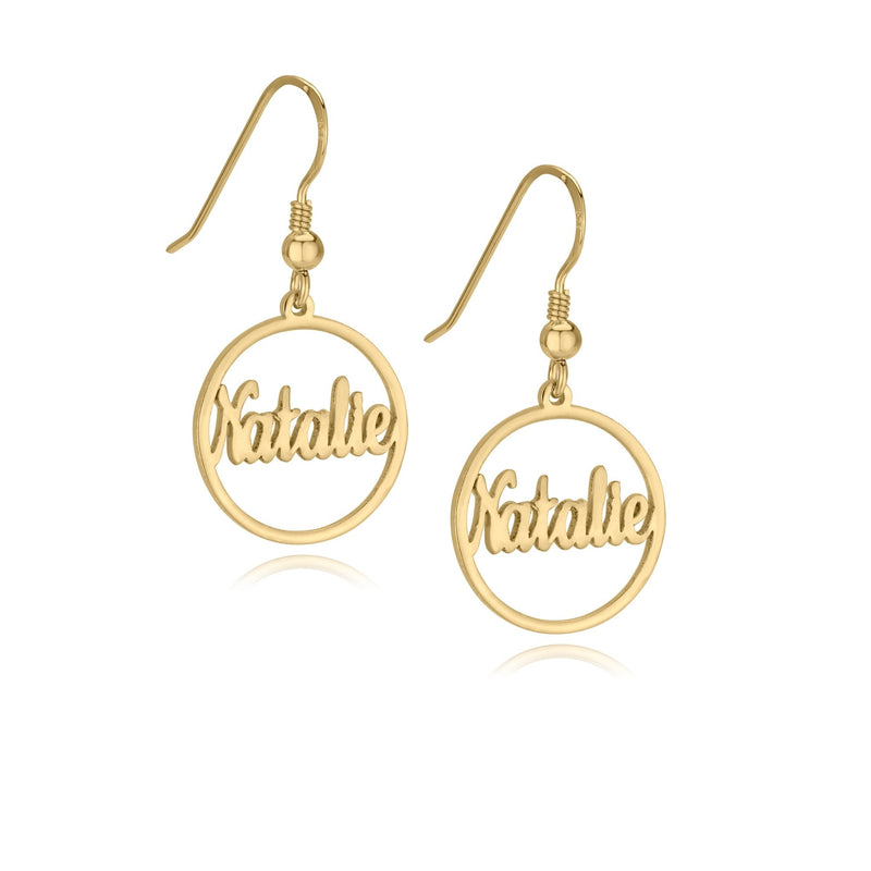 Custom Hoop Name Earrings - Beleco Jewelry