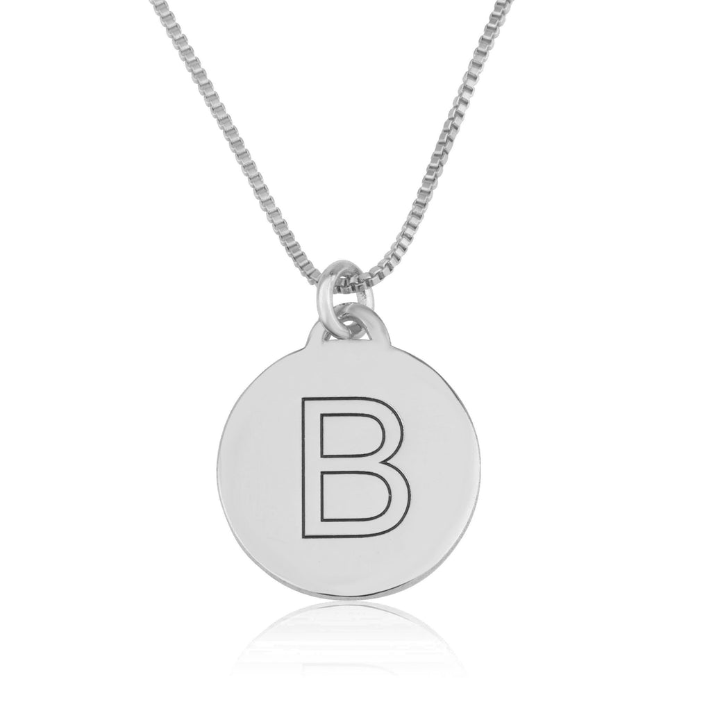 Custom Initial Disc Necklace - Beleco Jewelry