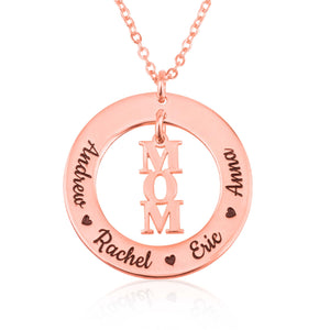 Custom Mom Necklace With Kids Name - Beleco Jewelry