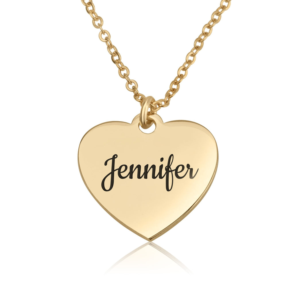 Custom Name Heart Necklace - Beleco Jewelry