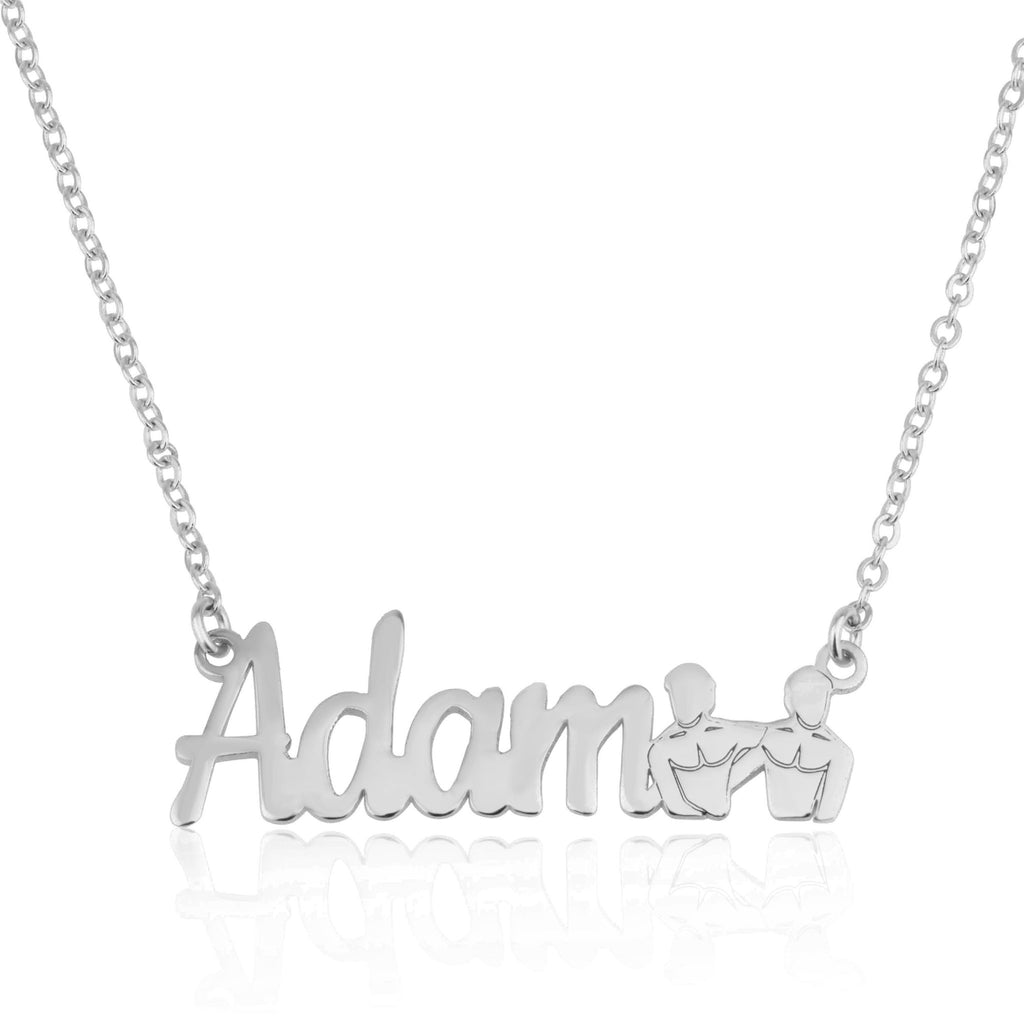 Custom Name Necklace With Gemini Zodiac Sign - Beleco Jewelry