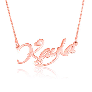 Custom Name Necklace With Hearts - Beleco Jewelry