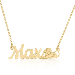 Custom Name Necklace With Leo Zodiac Sign - Beleco Jewelry
