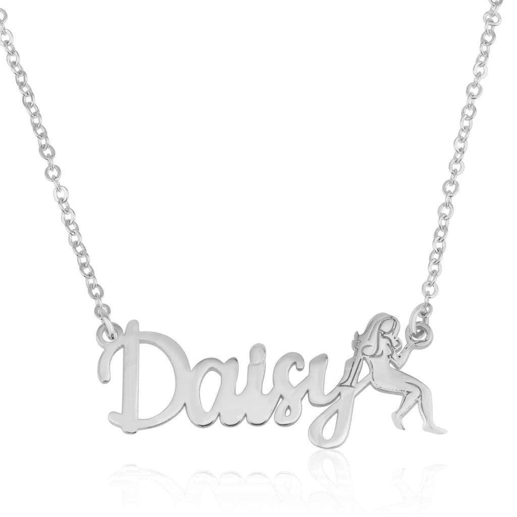 Custom Name Necklace With Virgo Zodiac Sign - Beleco Jewelry