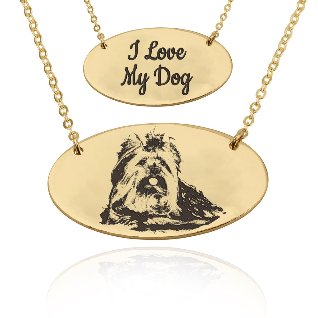 Custom Pet Engraved Photo Necklace - Beleco Jewelry