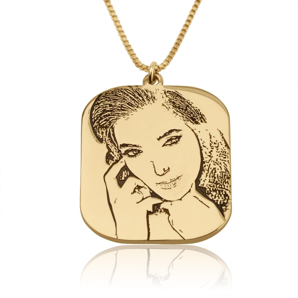 Custom Portrait Necklace - Beleco Jewelry