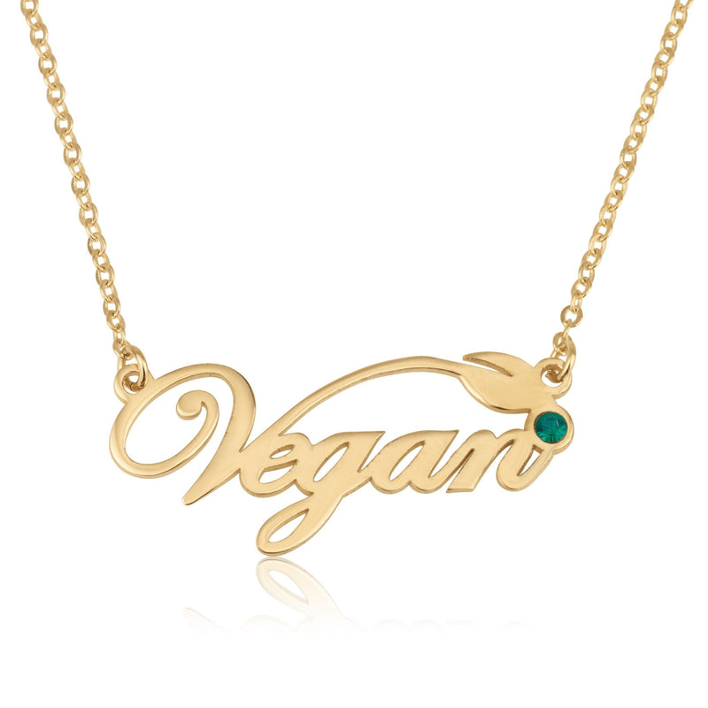 Custom Vegan Pride Necklace - Beleco Jewelry