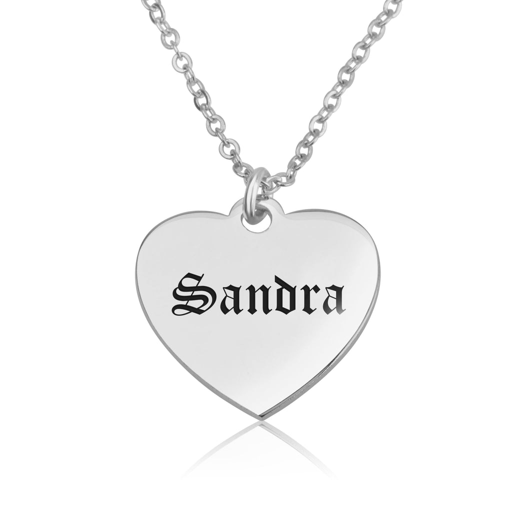 Customizable Heart Necklace - Beleco Jewelry