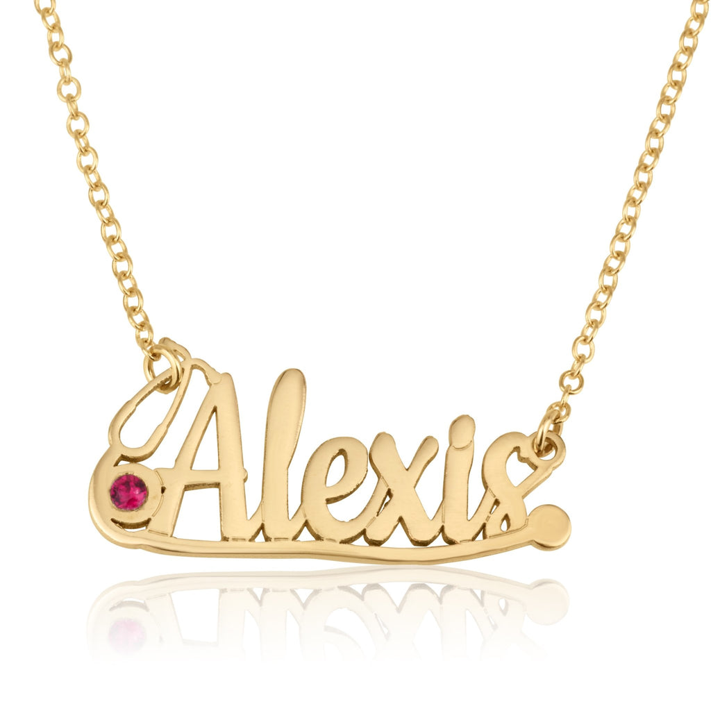 Doctor Stethoscope Necklace With Name And Birthstone - Beleco Jewelry