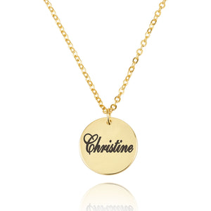 Engraving Disc Necklace - Beleco Jewelry