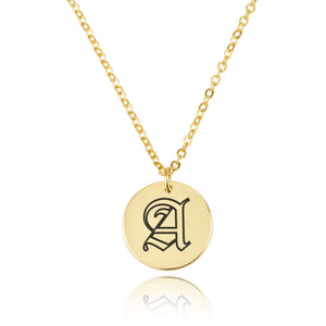 Engraving Letter Necklace - Beleco Jewelry