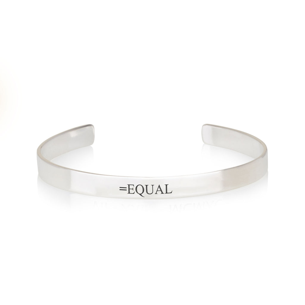 EQUAL Engraved Cuff Bracelet - Beleco Jewelry