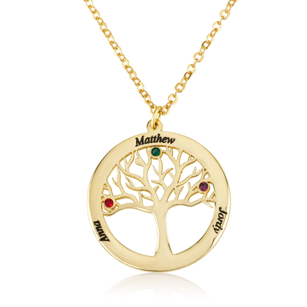 Family Tree Necklace - Beleco Jewelry