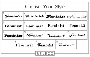 Feminist Engraved Cuff Bracelet - Beleco Jewelry