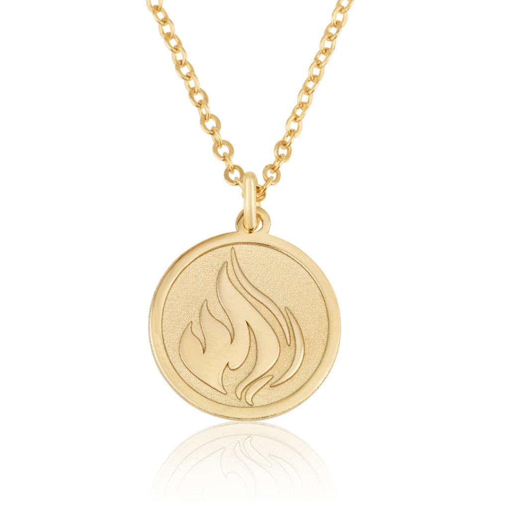 Fire Symbol Necklace - Beleco Jewelry