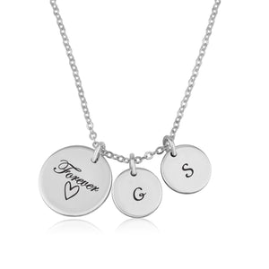 Forever Love Initial Necklace - Beleco Jewelry