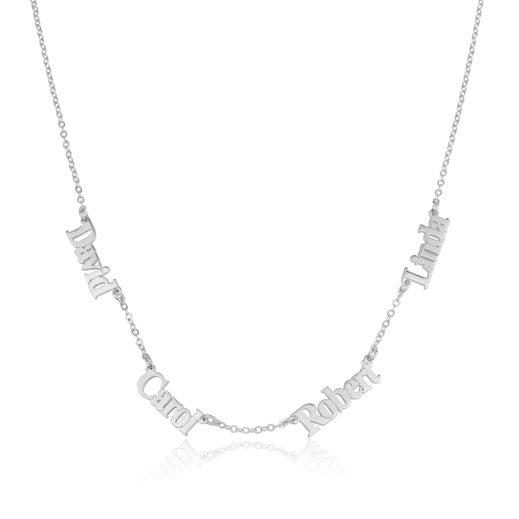 Four Name Necklace - Beleco Jewelry