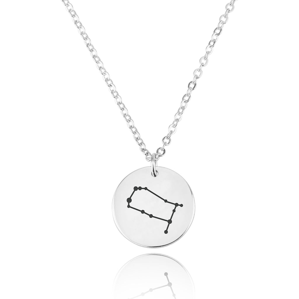 Gemini Celestial Constellation Disk Necklace - Beleco Jewelry