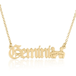 Gemini Symbol Necklace - Beleco Jewelry