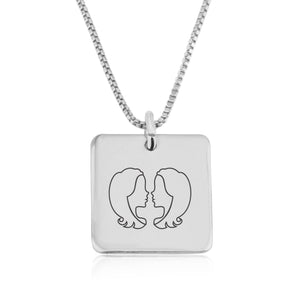 Gemini Zodiac Necklace - Beleco Jewelry