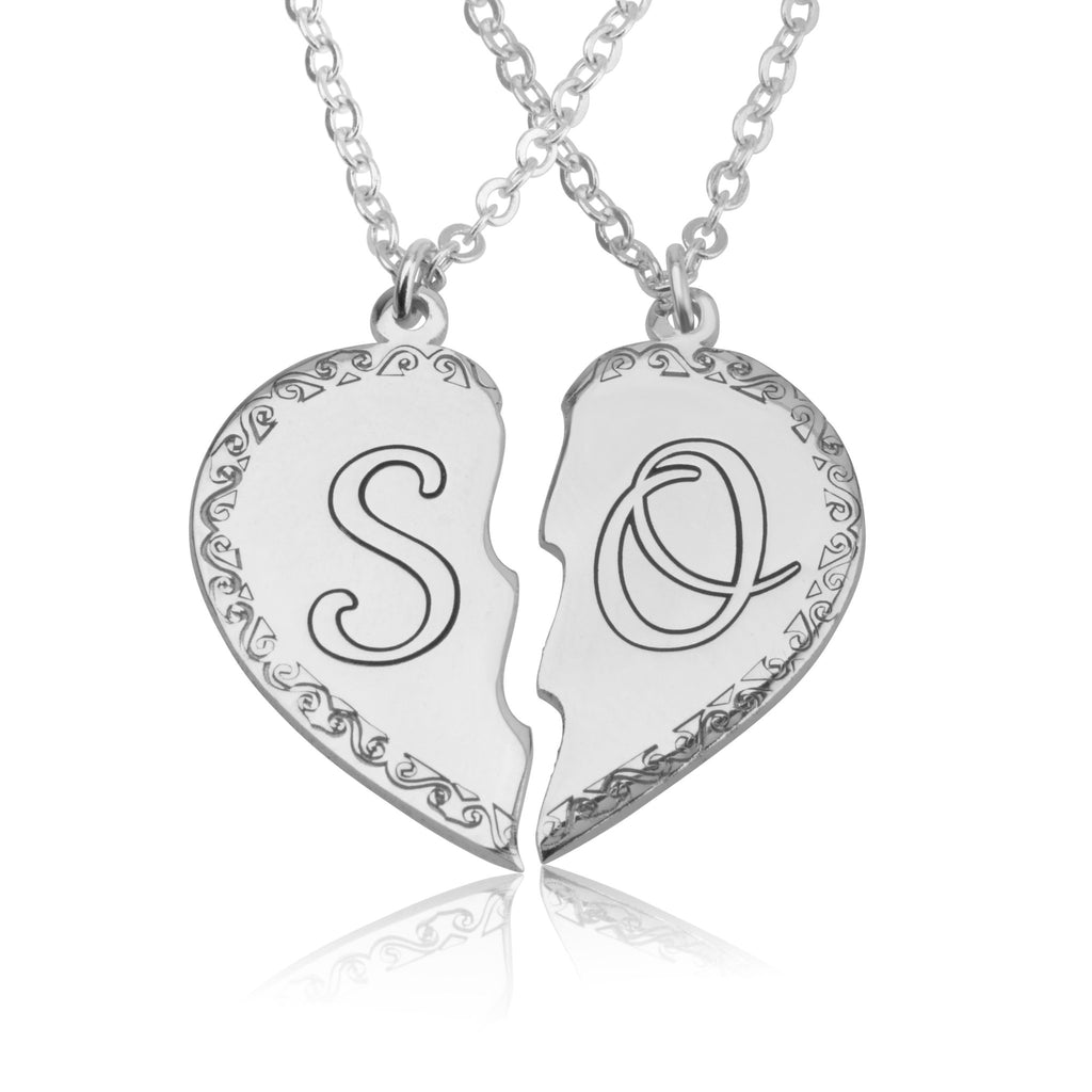 Him And Her Initial Necklaces - Beleco Jewelry