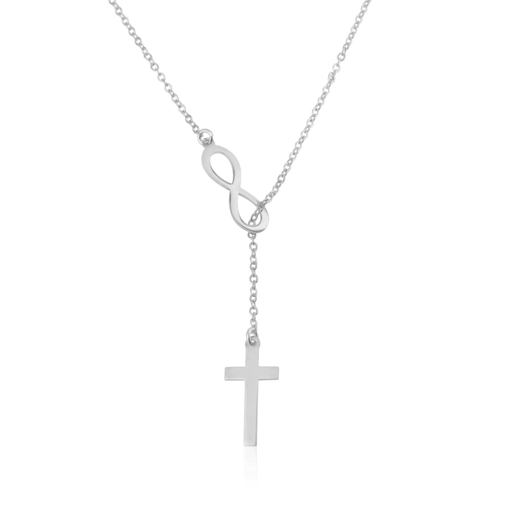 Infinity Cross Necklace - Beleco Jewelry