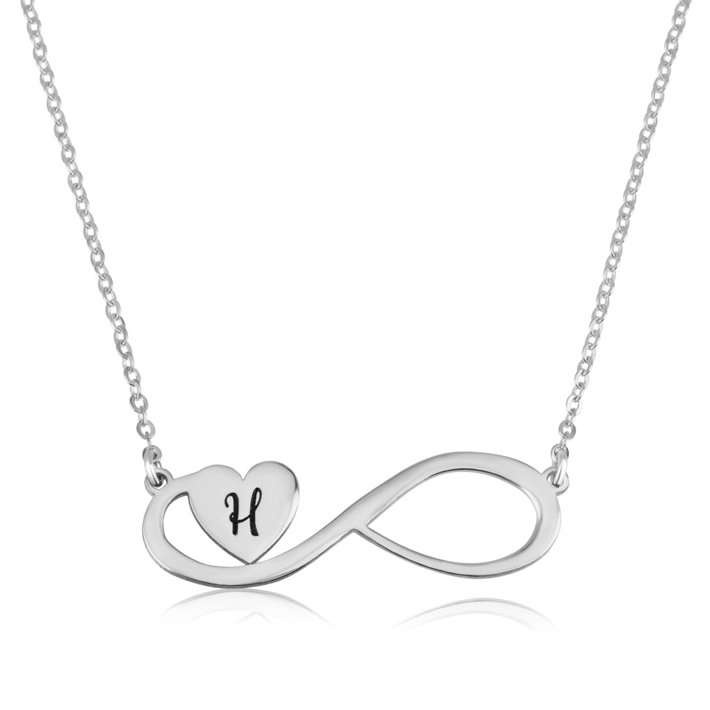 Infinity Initial Necklace - Beleco Jewelry