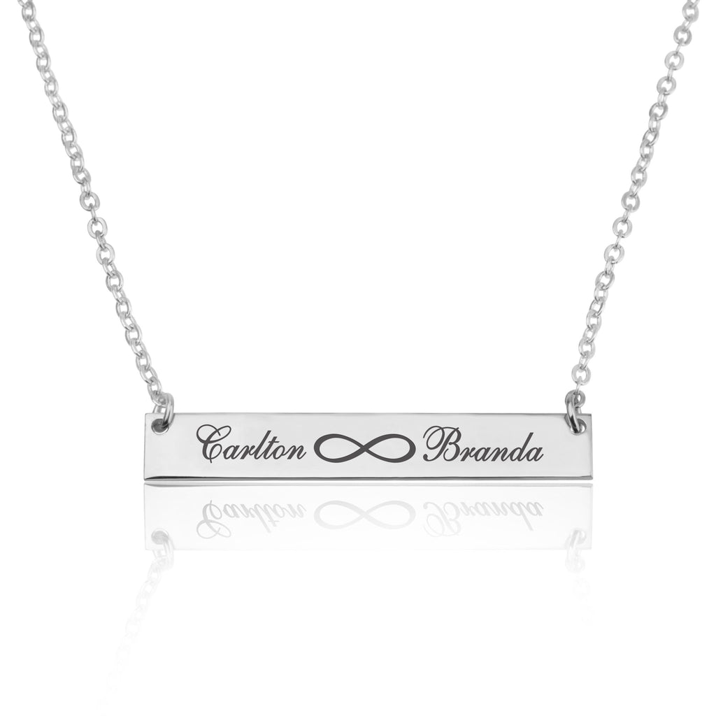 Infinity Names Bar Necklace - Beleco Jewelry