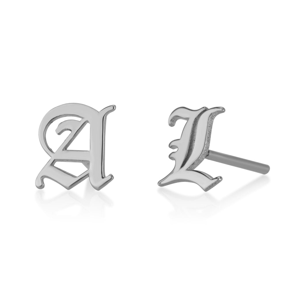 Initial Stud Earrings - Beleco Jewelry