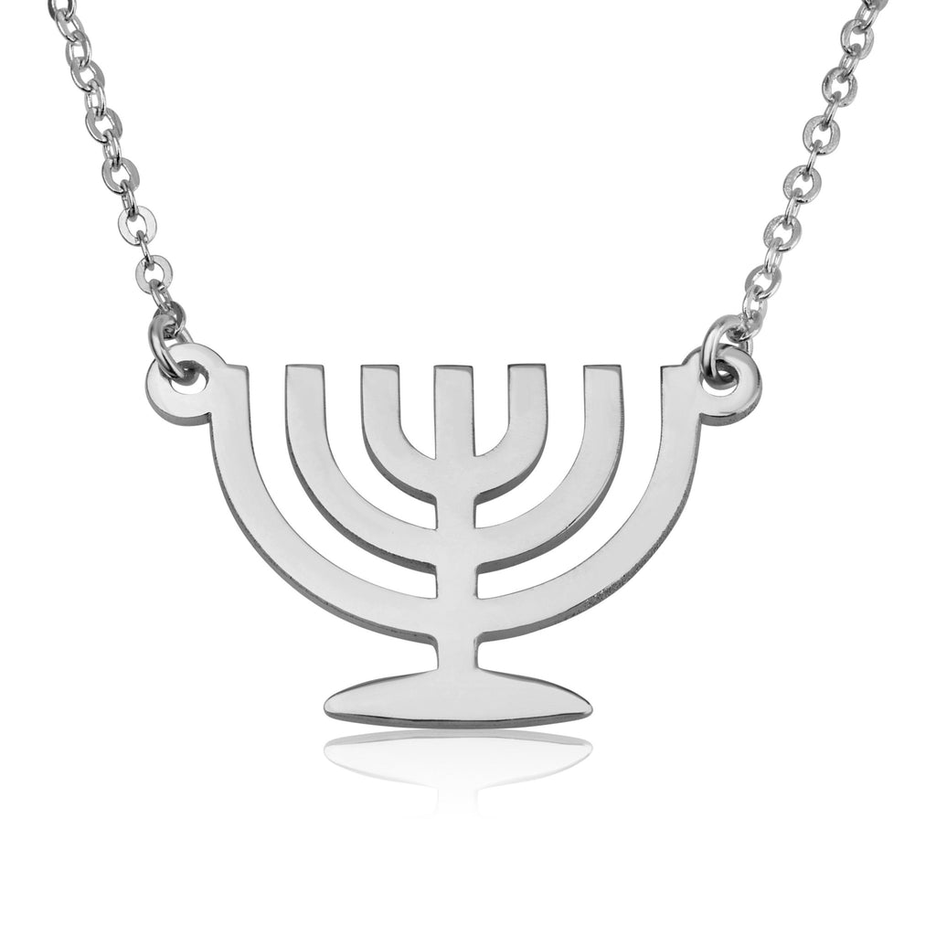 Jewish Menorah Necklace - Beleco Jewelry