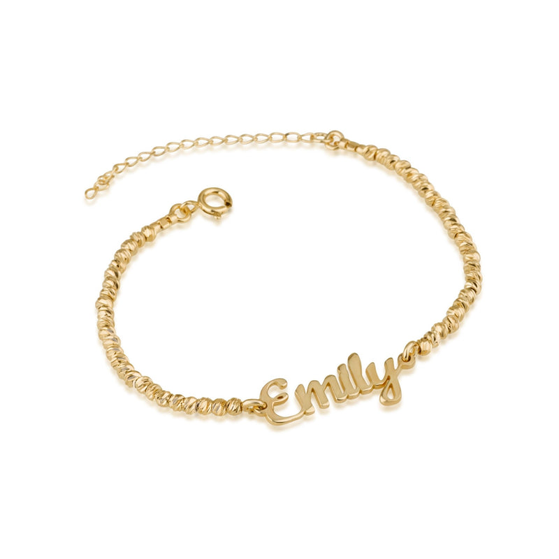Laser Beads Name Bracelet - Beleco Jewelry