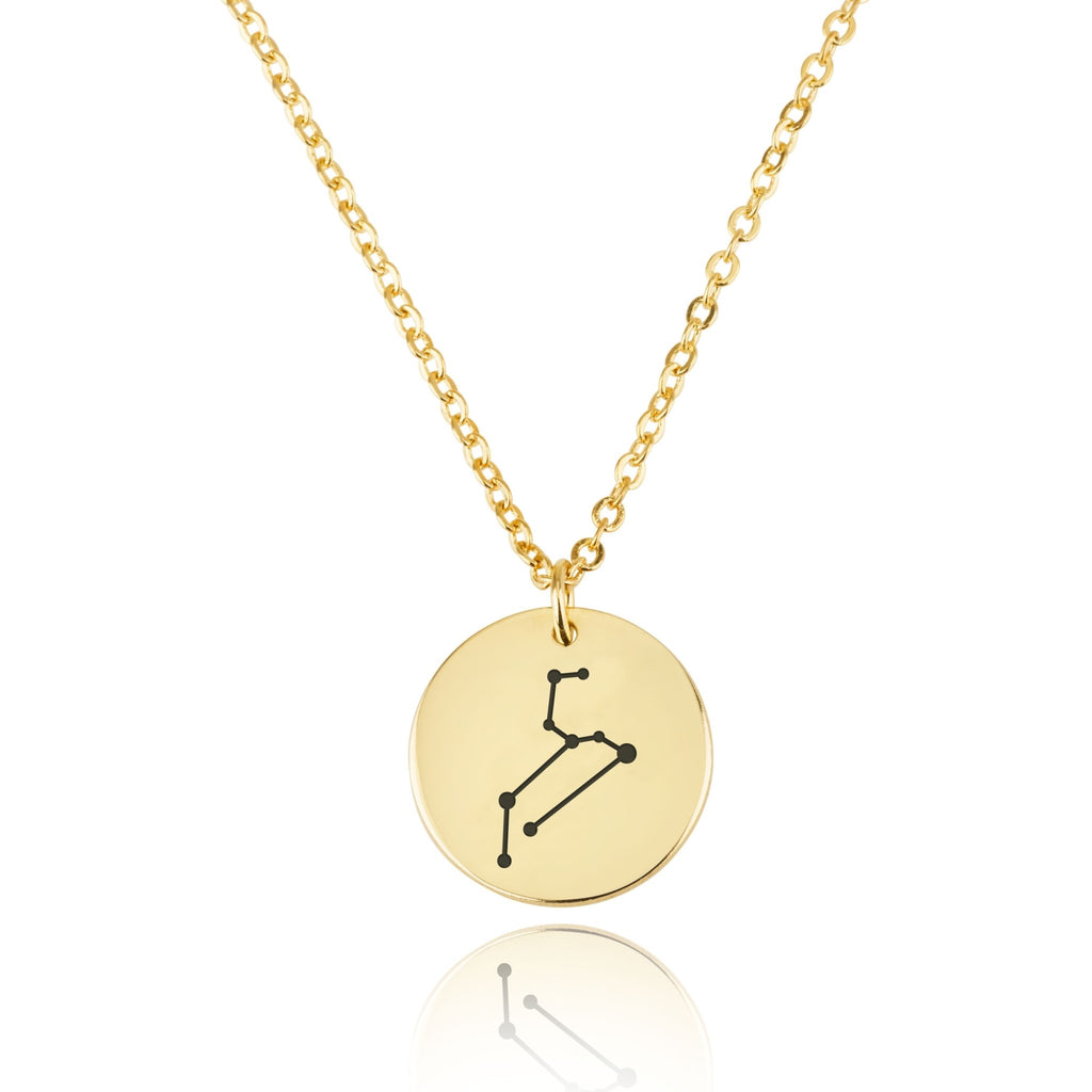 Leo Celestial Constellation Disk Necklace - Beleco Jewelry