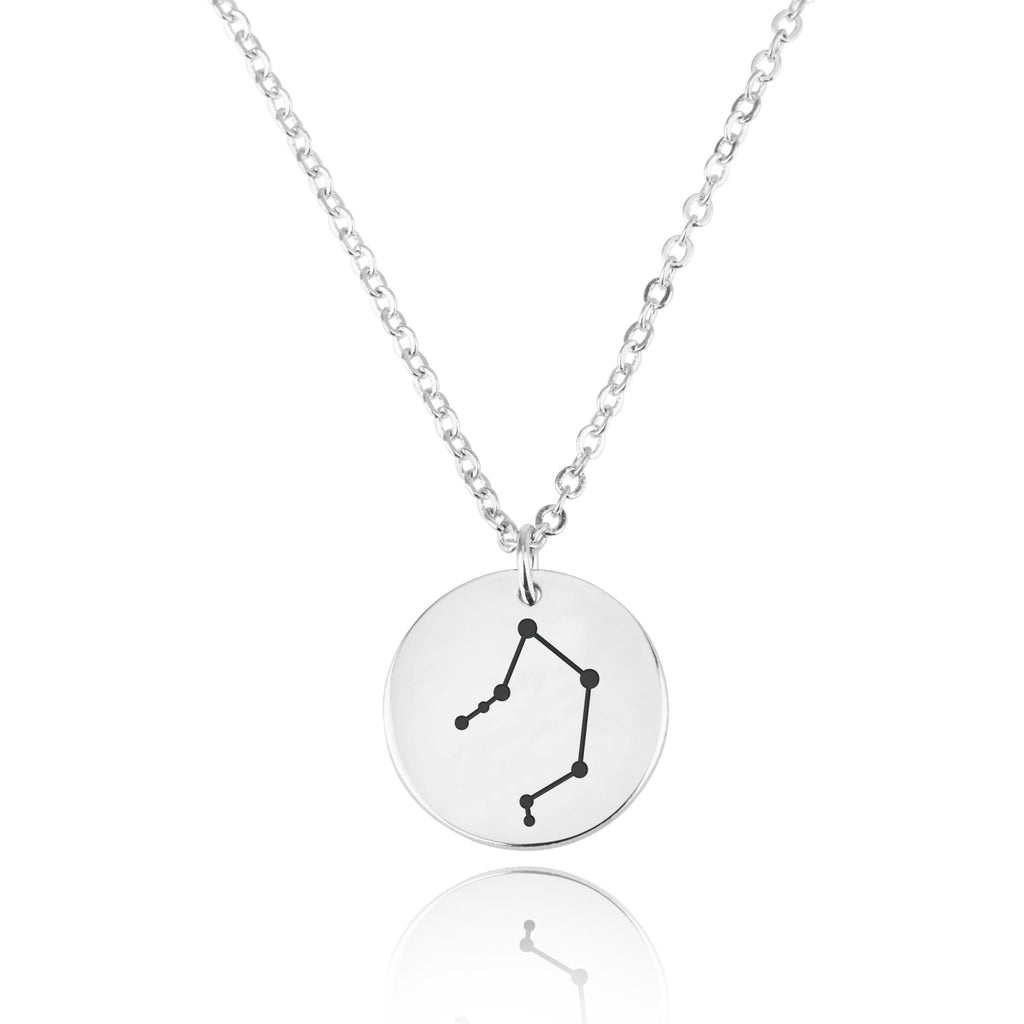 Libra Celestial Constellation Disk Necklace - Beleco Jewelry