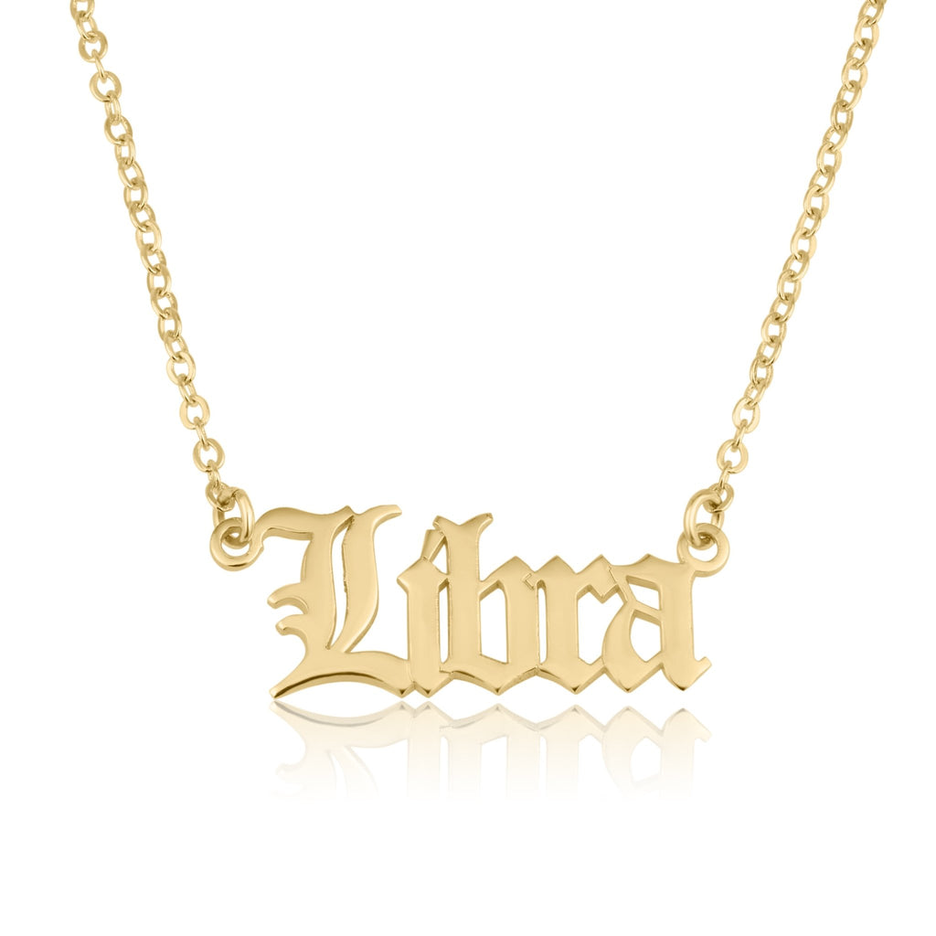 Libra Script Necklace - Beleco Jewelry