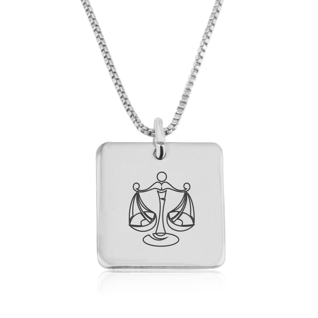 Libra Zodiac Necklace - Beleco Jewelry