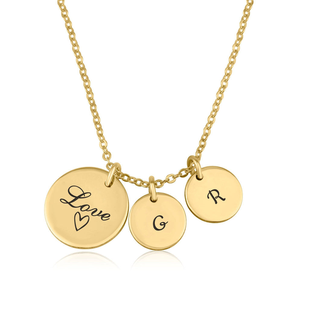 Love Initial Necklace - Beleco Jewelry