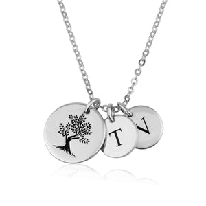 Mother Gift Necklace with Initial - Beleco Jewelry