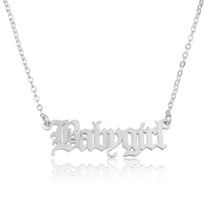 Old English Name Necklace - Beleco Jewelry