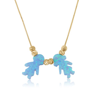 Opal Baby Pendants Necklace - Beleco Jewelry