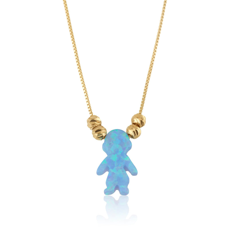 Opal Boy Necklace - Beleco Jewelry